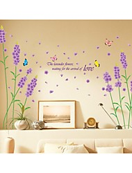 Wall Stickers Wall Decals, Style Lavender PVC Wall Stickers