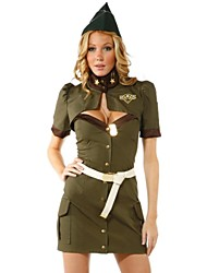 Hot Girl Green Pilot Uniform