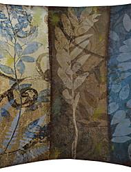 TWOPAGES® Set of 4 Vintage Plant Pattern Velvet Decorative Pillow Cover