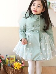 Girl's Love Mesh Quilted Jacket