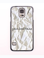 Personalized Phone Case - Paper Design Metal Case for Samsung Galaxy S5