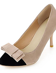 Women's Shoes Pointed Toe Stiletto Heel Flocking Pumps Shoes with Bowknot More Colors available