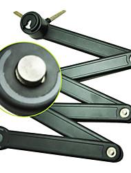 acier de vélos accessoires antivol ouest profession biking® vélo verrouillage du cycle pliable 45mm * 850mm vélo pliable serrure