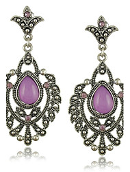 New Vintage Purple Earrings Jewelry