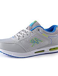 Zapatos Running Semicuero Gris Mujer