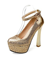Pompe di scarpe da donna rotonda tacco bobina punta con scarpe fibbia più colori disponibili