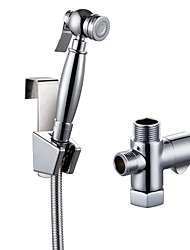 Chrome Hand Held Bidet with Shut Off Valve and 79-Inch Extra-Long Hose, LP901+K1018
