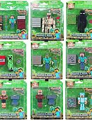 Minecraft 3D steve Aufhänger Schlingpflanze Eisen Golem Modell-Action-Figur mit Zubehör (9pcs / lot)