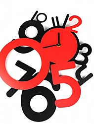plaisir créatif 1 ~ 12 numéros horloge murale (1 x AA)