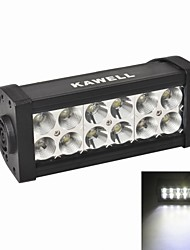 "KAWELL®36W 7.5"" LED for ATV/boat/suv/truck/car/atvs Off Road Waterproof Led Work Spot Light Bar"