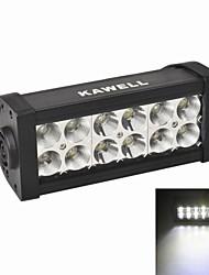"""kawell® 36w 7,5 """"привело к ATV / лодки / SUV / грузовиков / автомобиль / квадроциклы свет бездорожью водонепроницаемый привело работа со списком луч"""