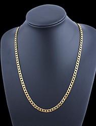 Figaro 60 centímetros homens cadeia dourado chapeado colares cadeia (5 mm de largura)