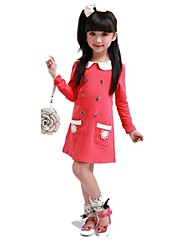 2015 vestido de la muchacha del resorte de una sola pieza cabritos del vestido de la flor de los sundress niñas visten el vestido cruzado de los niños