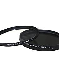 Новый взгляд ND2 к ND400 фильтра + УФ-фильтр для камеры (67мм)