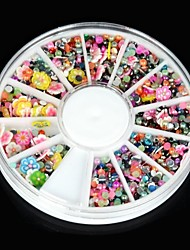 1600PCS False Nail Art Acrylic Rhinestone Flower Blossom Glitter Jewelry for Nail Art Decorations & Design