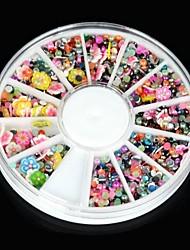 1600pcs falso prego jóias flor da flor de strass acrílico arte brilho para a decoração da arte do prego& projeto