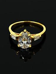 Women's Golden Silver Rhinestone Casul Rings