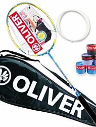 blau / gelb / Lavendel Kohlefaser sowohl Angriff und Verteidigung Badmintonschläger Technora