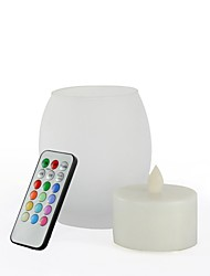 Big Egg Shape Frosted Glass Multi-color LED Candle with Remote