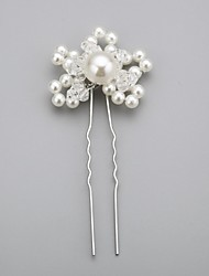 Women's Flower Girl's Crystal Alloy Imitation Pearl Headpiece-Wedding Special Occasion Hair Pin