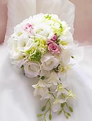 satin élégant cuillère bouquet de mariage / bouquet de mariée