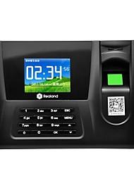 tela colorida impressão digital presenças cartão de crédito máquina realand + senha + impressão digital zdc20