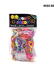 600pcs arco-íris cor de moda tear tear band (clipe 1package s)