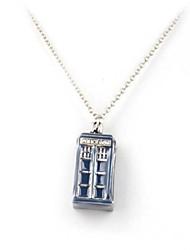 унисекс таинственные врач классика машина времени дом форма синий ожерелье (1 шт)