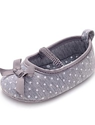 Girl's Spring / Summer / Fall Crib Shoes / First Walkers Fabric Wedding / Dress / Casual / Party & Evening Bowknot / Gore Gray