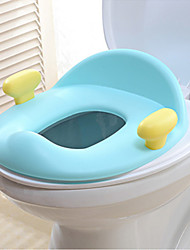 Baby Padded Toilet Seat With Handles,Taditional Plastic Blue