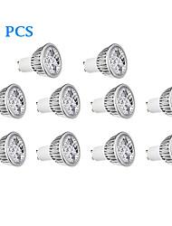 10 pcs GU10 4W 4 300 LM Warm White / Cool White LED Spotlight AC 220-240 V