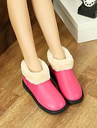 Fashion Leather Warm Slipper Shoes