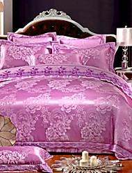 Gorgeous Jutecell jacquard Europeanism Luxury Four Piece Duvet Set