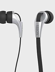 3,5 mm stéréo emmêlent gratuitement écouteurs intra-auriculaires avec microphone pour iPhone et autres téléphones intelligents (120cm)