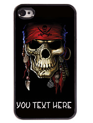 personalisierte Fall Piraten-Totenkopf-Design Metallkasten für iphone 4 / 4s
