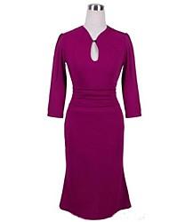 cintura plissada vestido quinta luva das mulheres