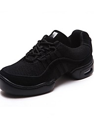 Non Customizable Men's Dance Shoes Dance Sneakers Fabric Low Heel Black