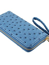 Women's Casual Ostrich PU Leather Wallet