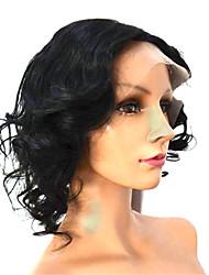 12inch indiano onda completa Lace Wig