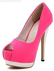 Scarpe Donna - Scarpe col tacco - Formale / Serata e festa - Tacchi / Aperta - A stiletto - Finto camoscio - Verde / Rosa