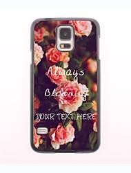 Personalized Phone Case - Always Blooming Steel Roses Design Metal Case for Samsung Galaxy S5