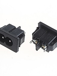 DIY 2-Pin 5A/250V Power Socket Outlet (2pcs)