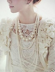 Women's Multilayer Pearl Necklace/Long Necklace