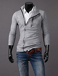 Men's Pure Cardigan , Cotton Long Sleeve