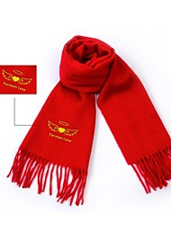 Personalized Valentine's Day Gifts DIY Pure Soft Cashmere Scarf 12 Characters Limited(More Color) LIWUYOU