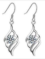 Earring Drop Earrings Jewelry Women Silver 2pcs Silver