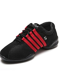 spaccati soli pattini tacco basso scarpe da tennis di ballo di ballo delle donne più colori