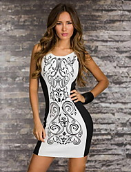 m&vestido de estampado floral sexy d de las mujeres