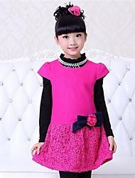 moda doce vestido de manga curta da garota