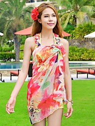 Women's Agaric Edge Printing Steel Supporting Bikini Three Piece Suit